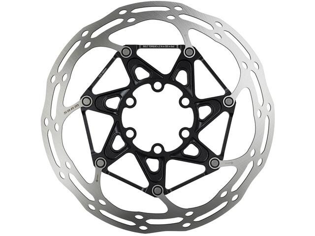 SRAM Centerline X jarrulevyt rounded 6-Loch , musta/hopea